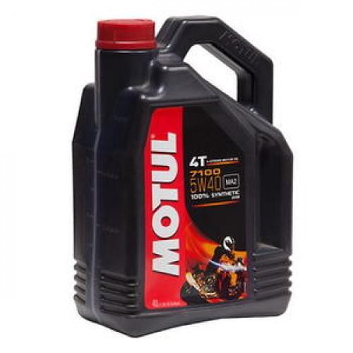 Моторное масло синтетическое Motul 7100 Ester 4T 5W40 (4 литра)
