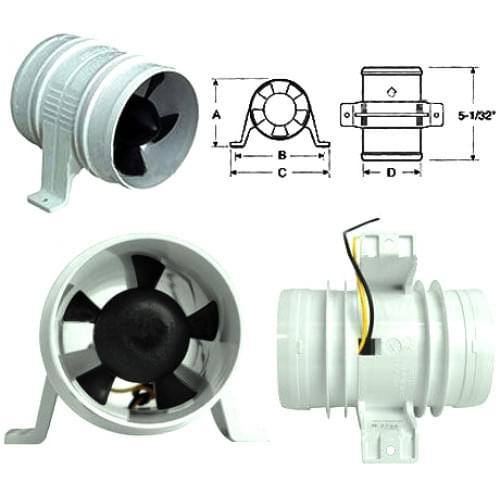 Вентилятор охлаждения шноркелей (Турбина на шноркель) T3000